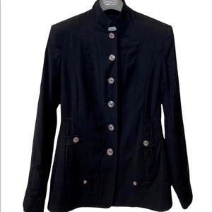 DIOR Sz 40 Jacket Black Wool blend Boutique Paris